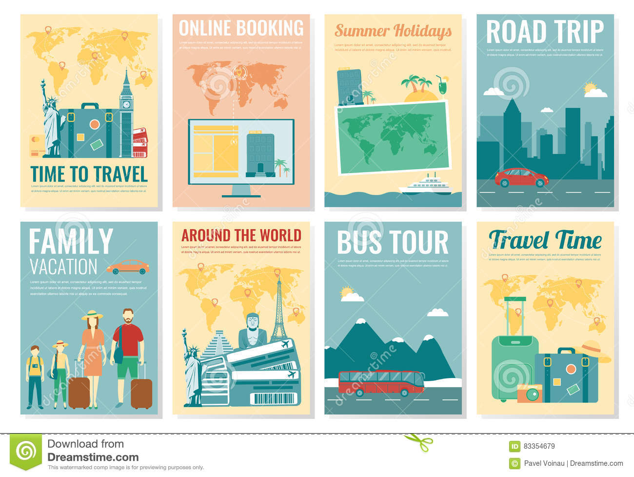 Travel And Tourism Brochure Set Template Of Magazine Poster – Tourism Brochure Template