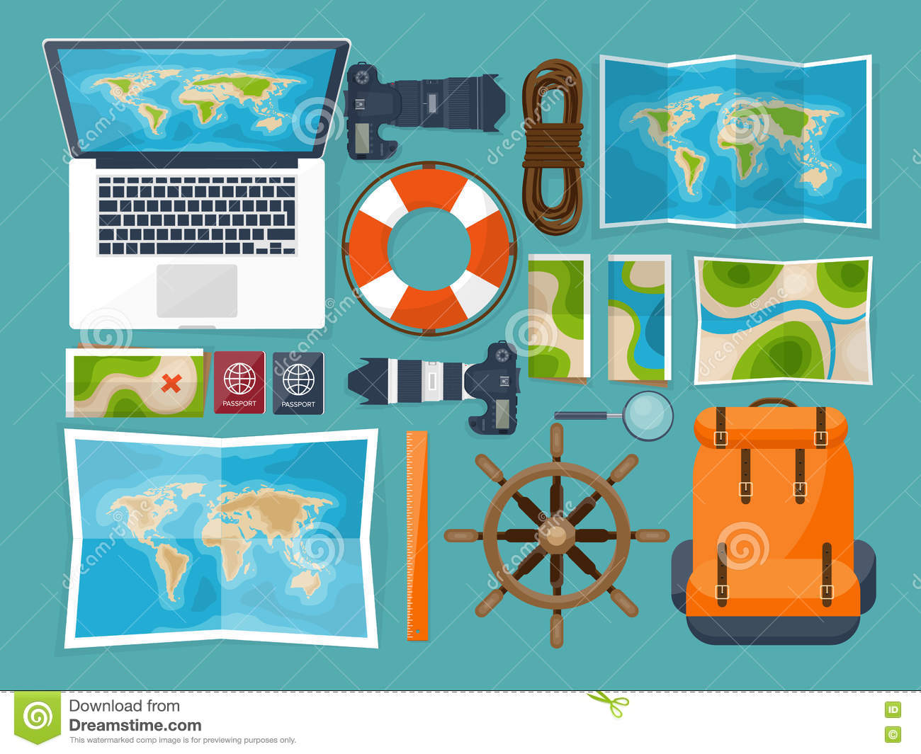 Travel and tourism flat style world earth map globe trip tour world earth map globe trip tour journey summer holidays travelling exploring worldwide adventureexpedition table workplace traveler navigation or gumiabroncs Choice Image