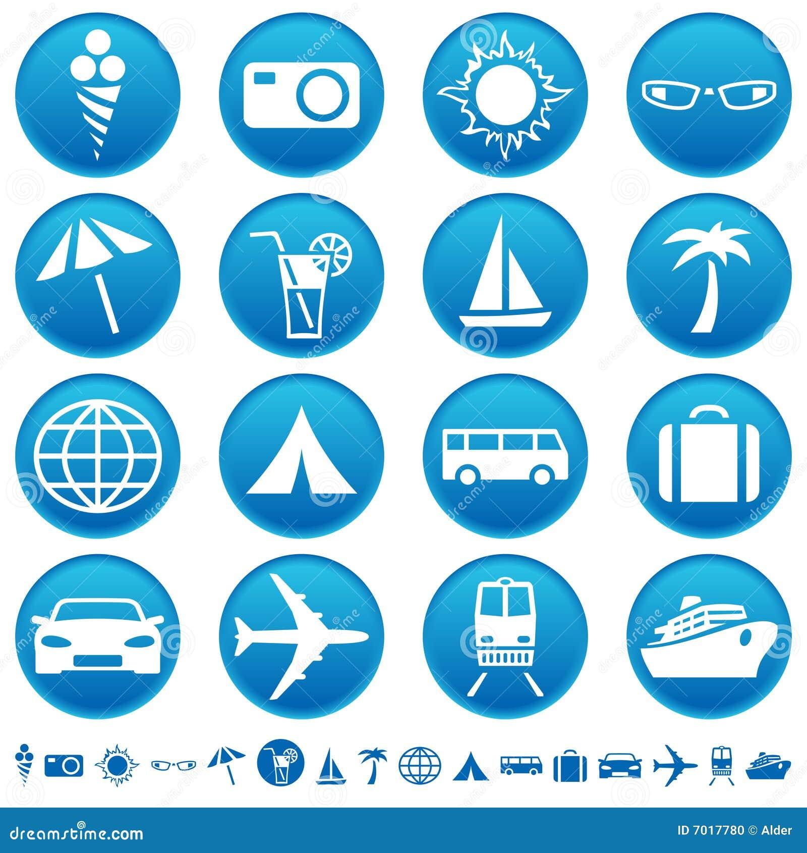 Travel & tourism icons