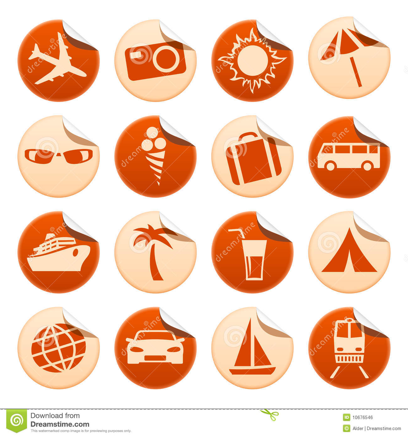 Travel Amp Tourism Stickers Royalty Free Stock Image Image