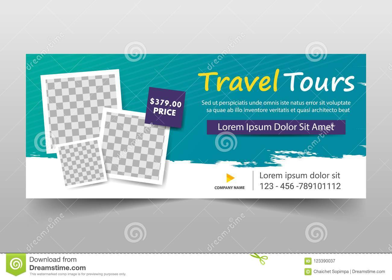 Travel tours corporate banner template horizontal advertising download travel tours corporate banner template horizontal advertising business banner layout template flat design set wajeb