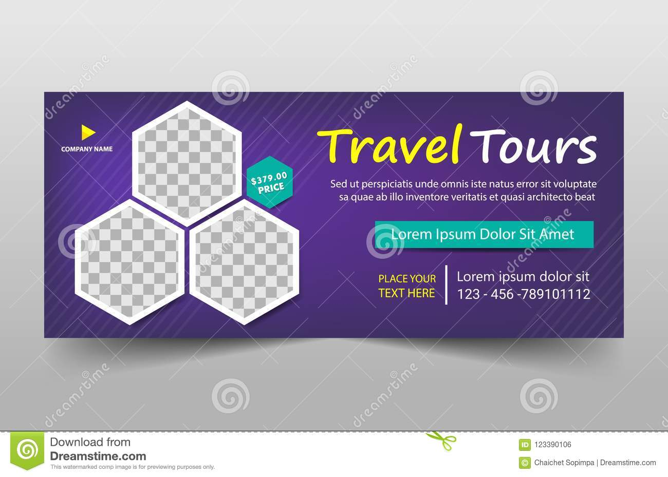 Travel tours corporate banner template horizontal advertising download travel tours corporate banner template horizontal advertising business banner layout template flat design set wajeb Choice Image
