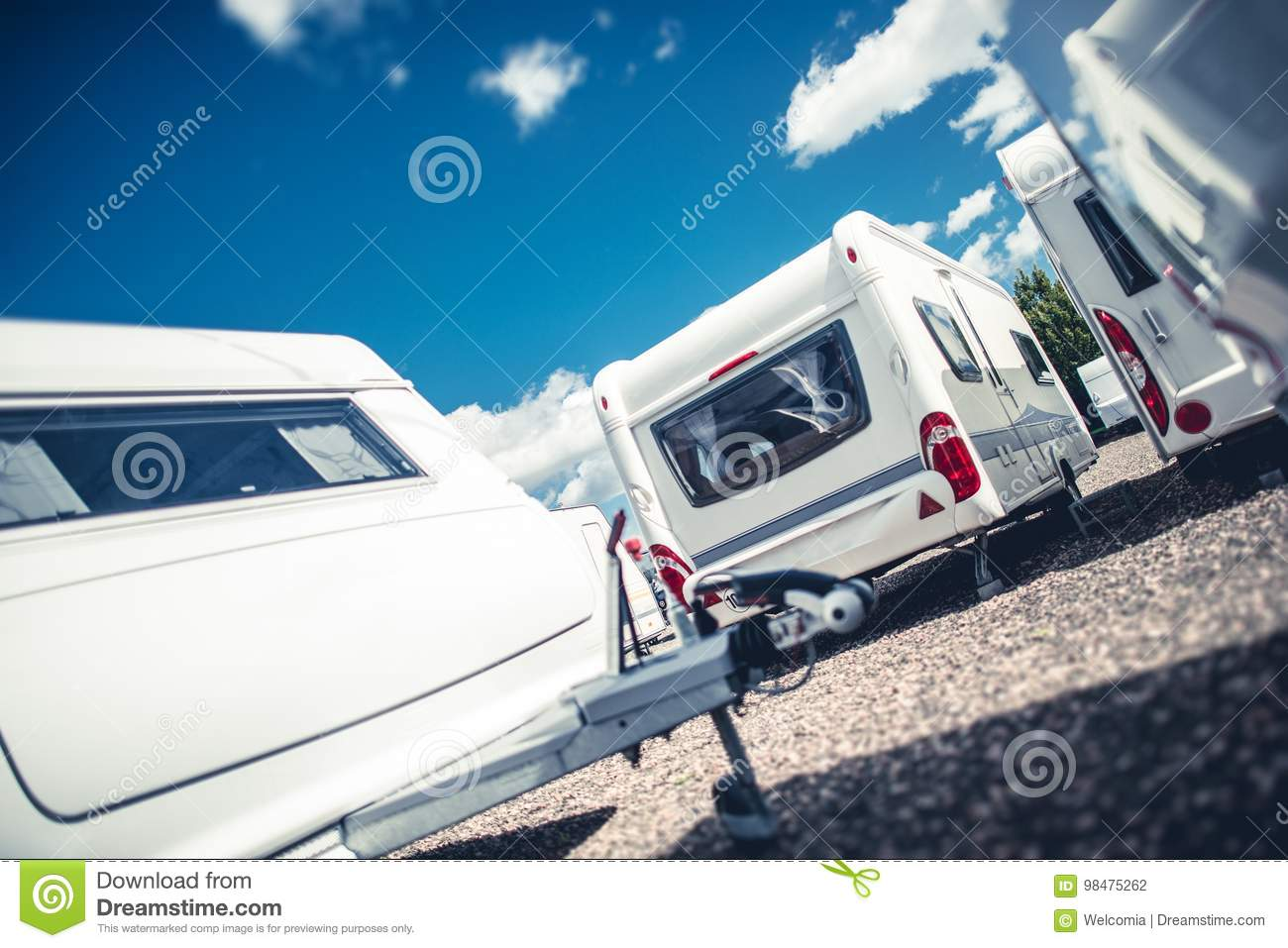 Camp Trailers For Sale >> Travel Trailers Sales Stock Photo Image Of Tourism Camping