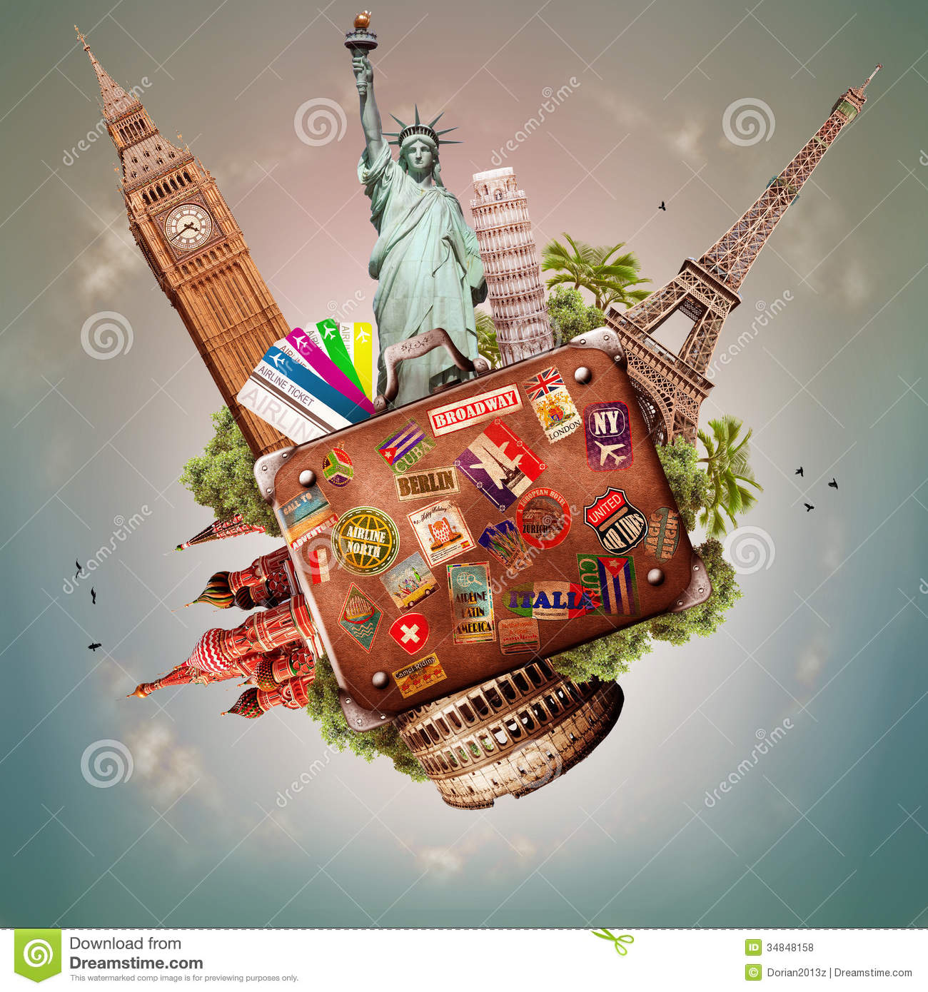 Travel And Trip Stock Photo Image Of Suitcase Traveler