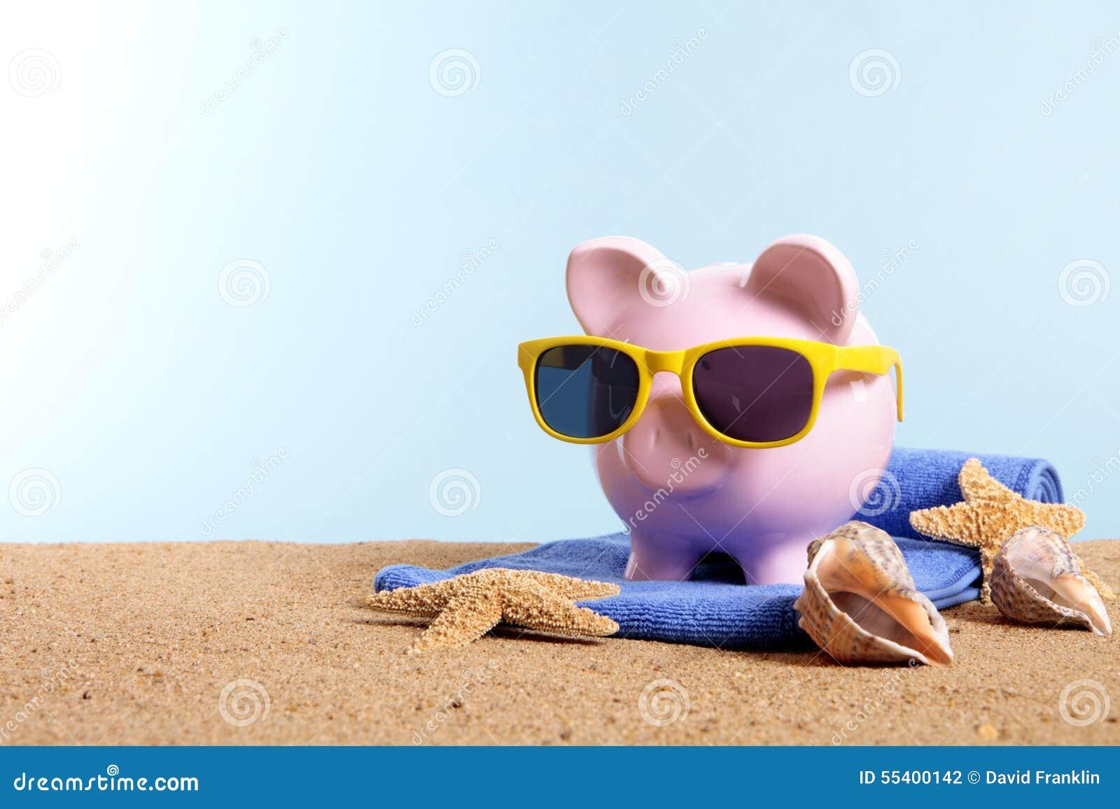 Travel Vacation Money Retirement Plan Piggy Bank On