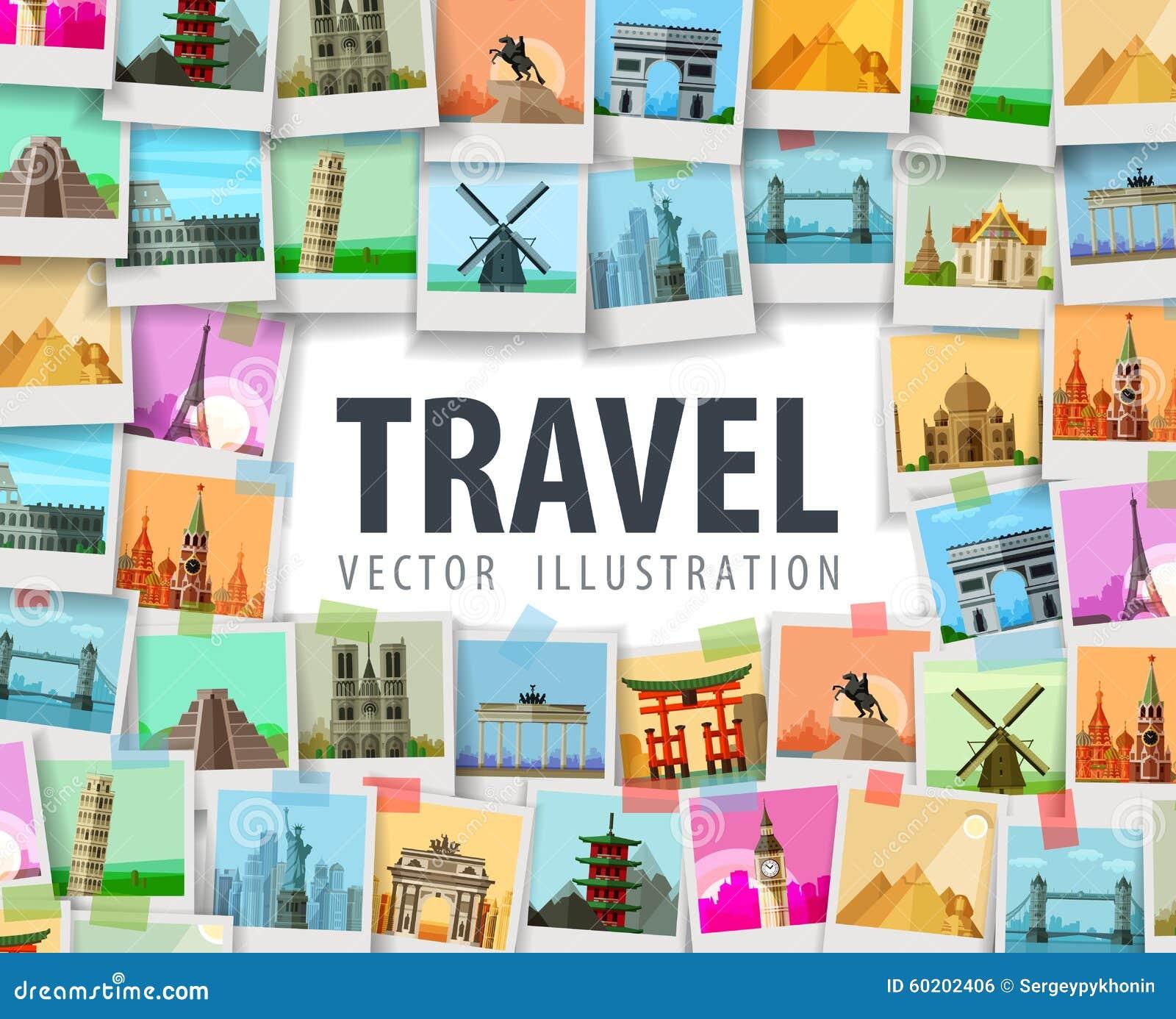 travel vector logo design template trip or stock vector