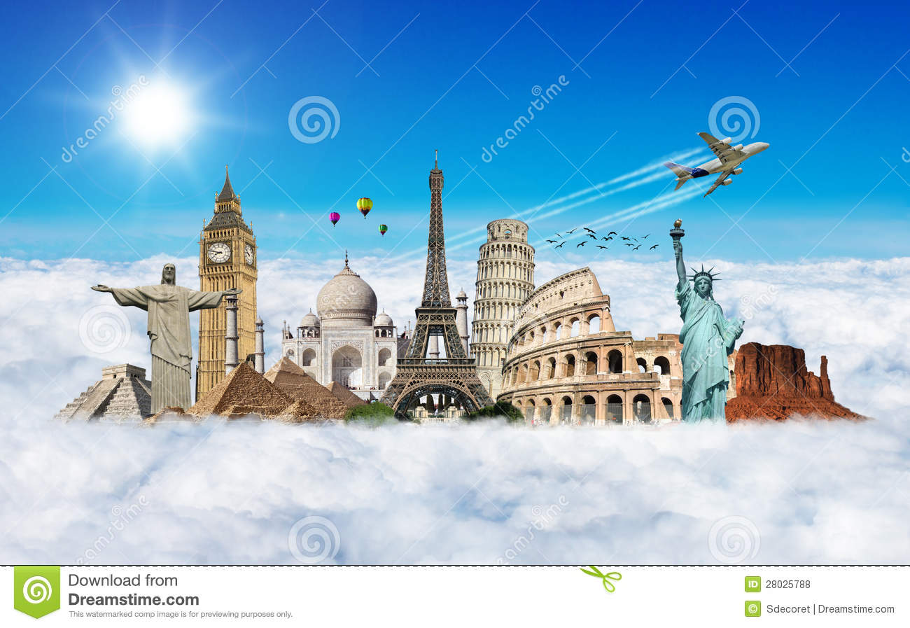 travel the world monument concept stock photo image