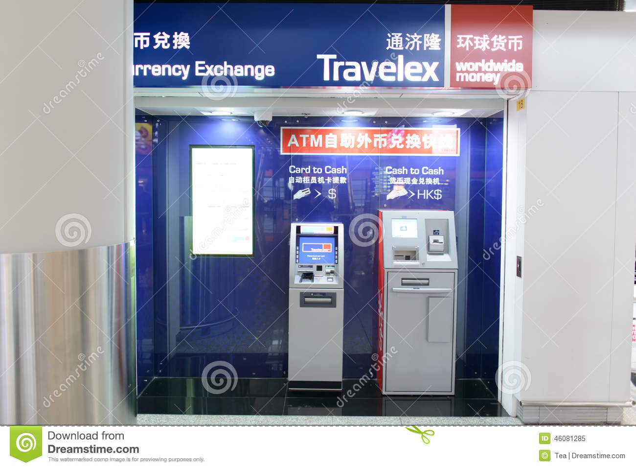 Travelex atm in airport editorial image  Image of airline