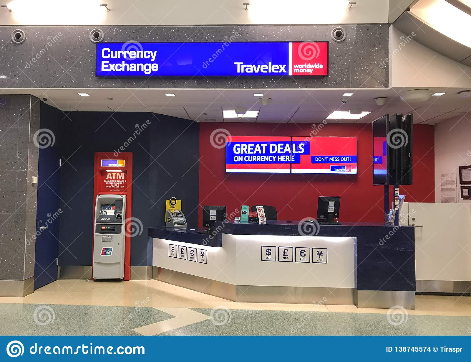 Travelex currency exchange editorial stock image  Image of