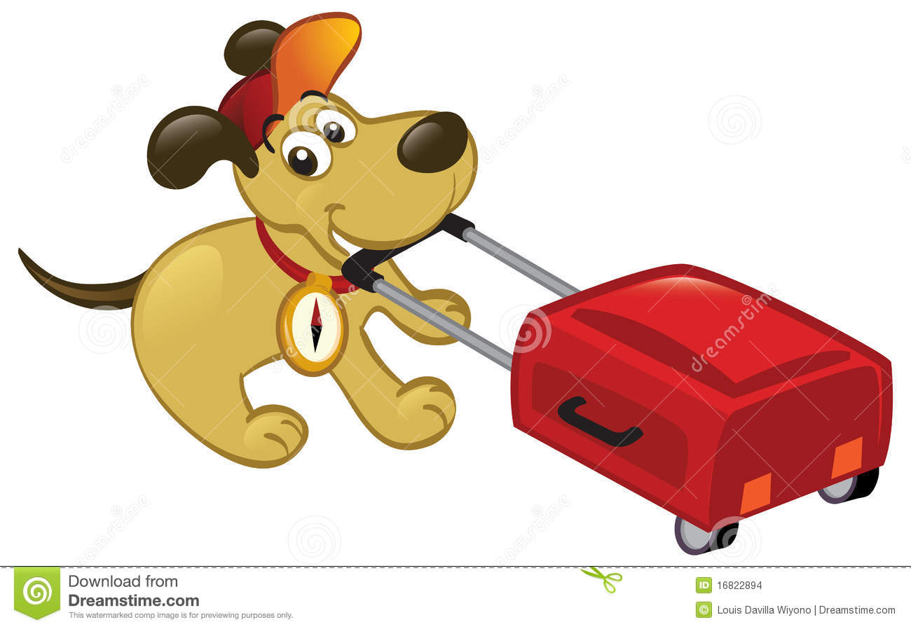 traveling dog pulling a luggage stock vector image 16822894 square and compass clip art free free compass clip art black and white