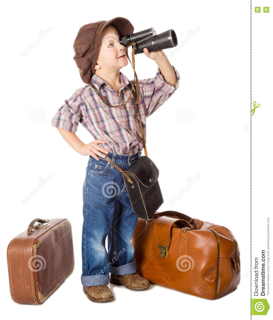 Little Boy Sitting In Suitcase Imagine To Travel Stock ...  Little Boy Traveling