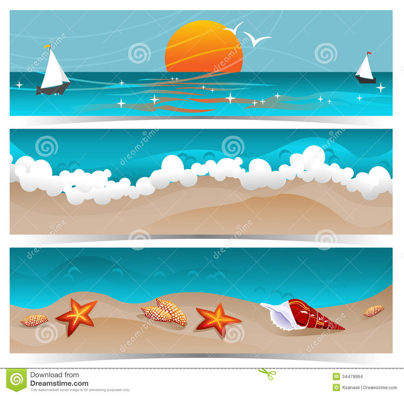 Traveling Summer Banners stock vector. Illustration of ...
