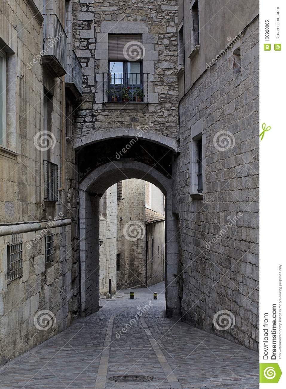 Girona Streets Game Of Thrones Walk Of Shame Stock Image Image Of