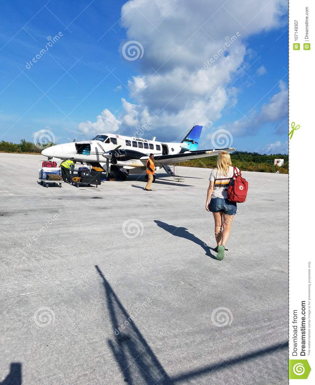 traveling to the out islands bahamas editorial photography