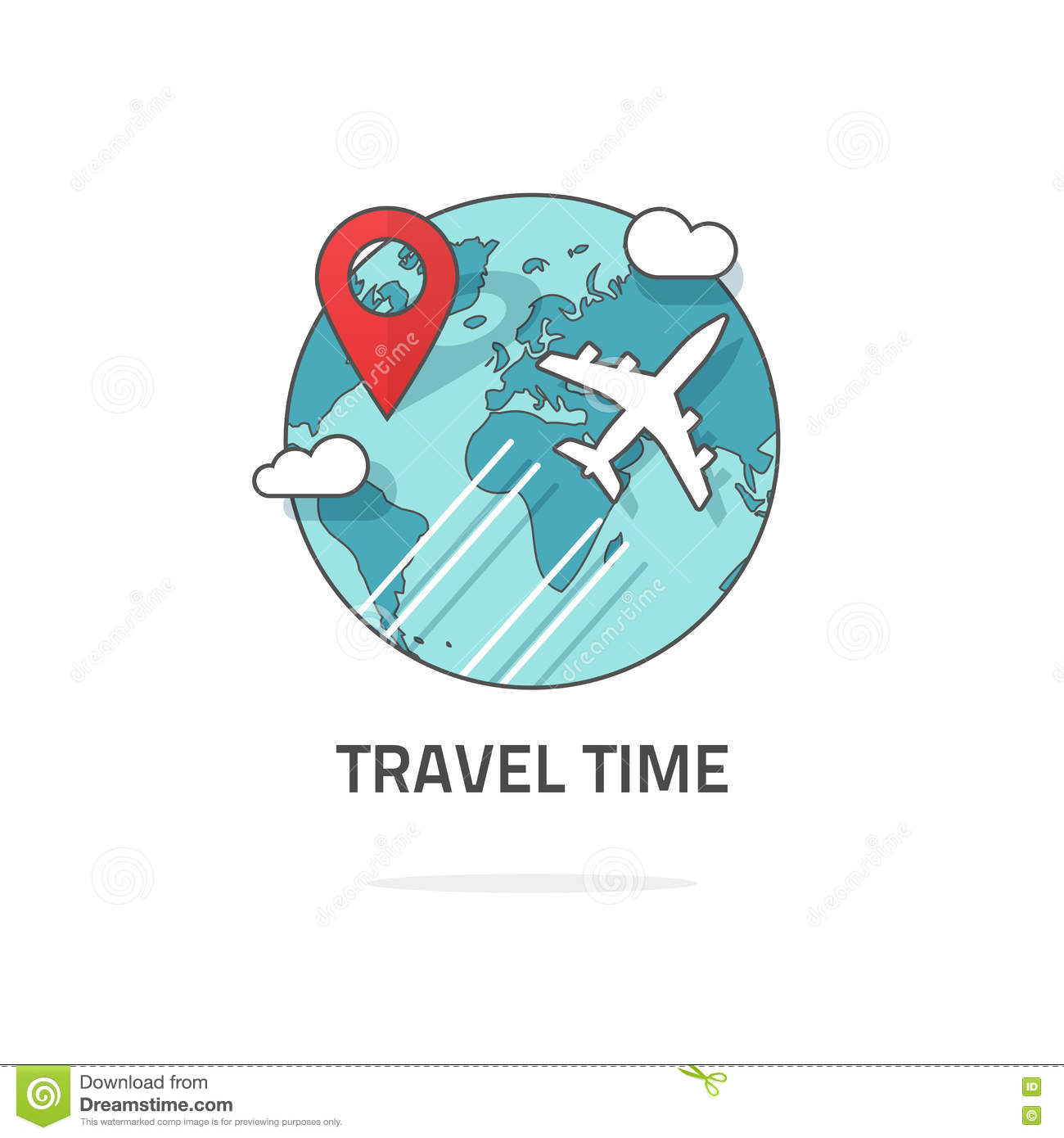 Download Travelling By Plane Concept Travel And World Trip Logo Journey Stock Vector