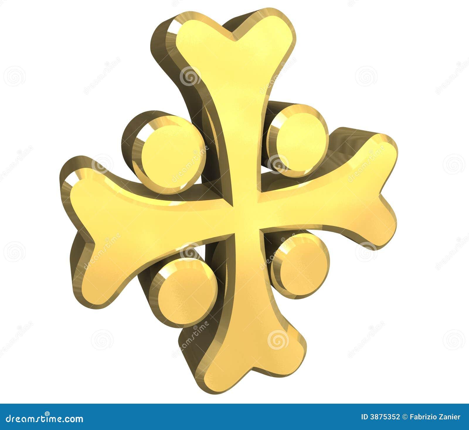 Traversa arminiana in oro - 3D