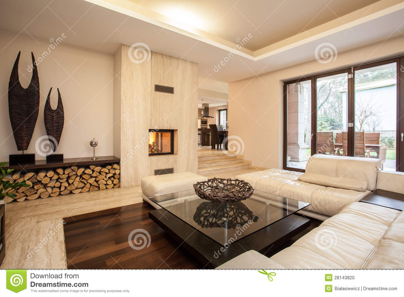 Modern hotel room interior stock photo image 18197840 - Beige House Interior Living Room