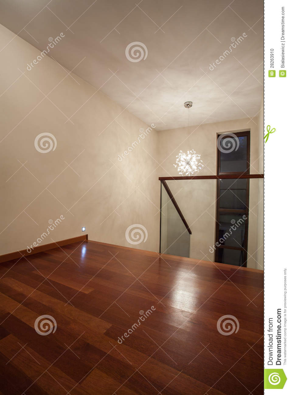 Travertine House Brown Wooden Floor Stock Photo Image