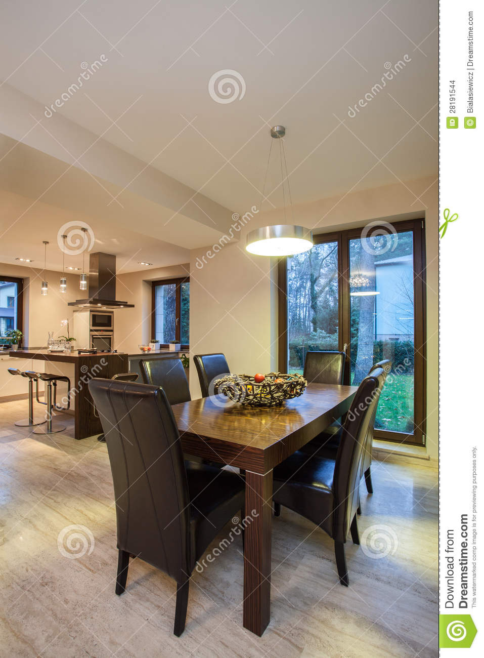 travertine house - decoration in interior stock images - image
