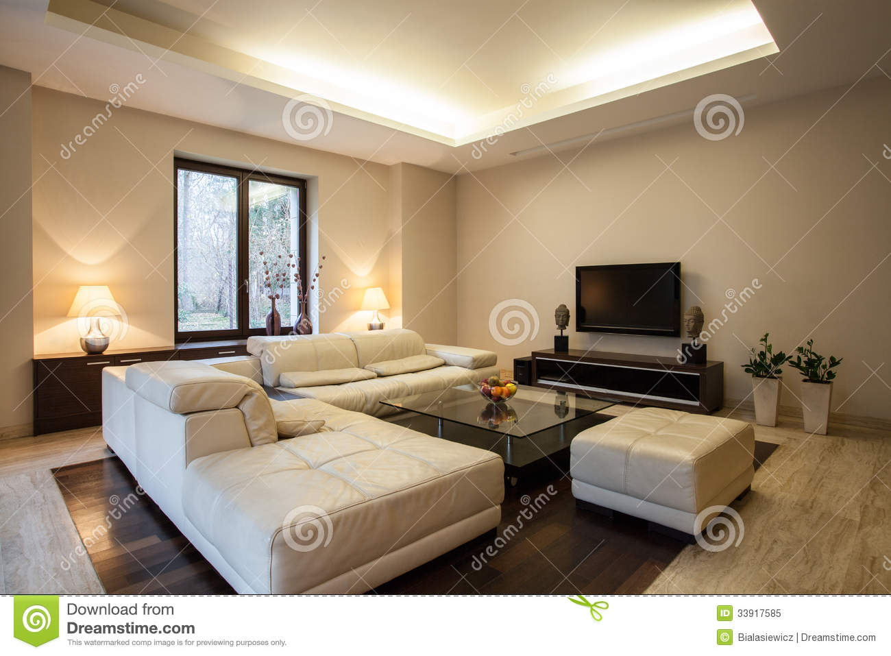 Travertine House: Horizontal View On Interior Stock Image - Image of ...