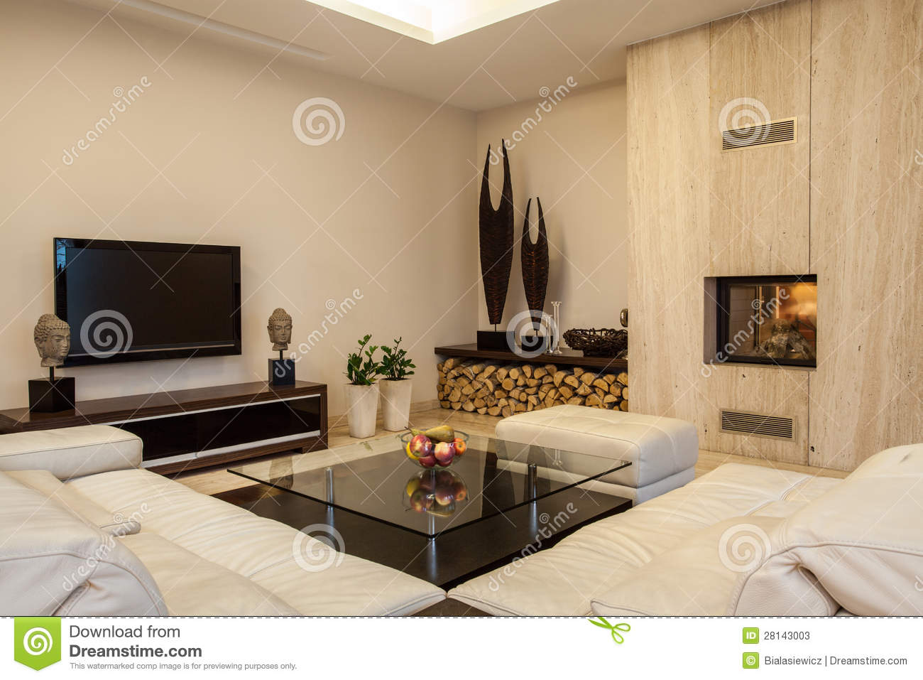 travertine house: beige living room stock photo - image: 28143820