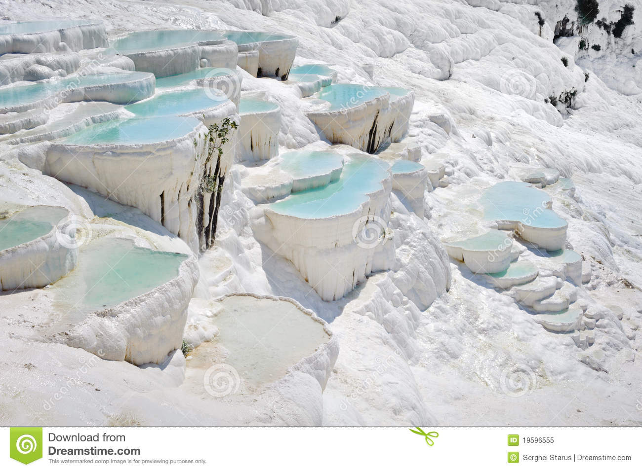 Travertine Pools At Pamukkale Stock Image - Image of ...