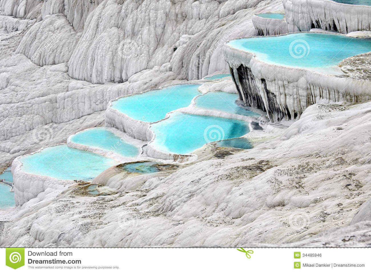 Travertine pools stock photo image of scenics people for Pool time pools