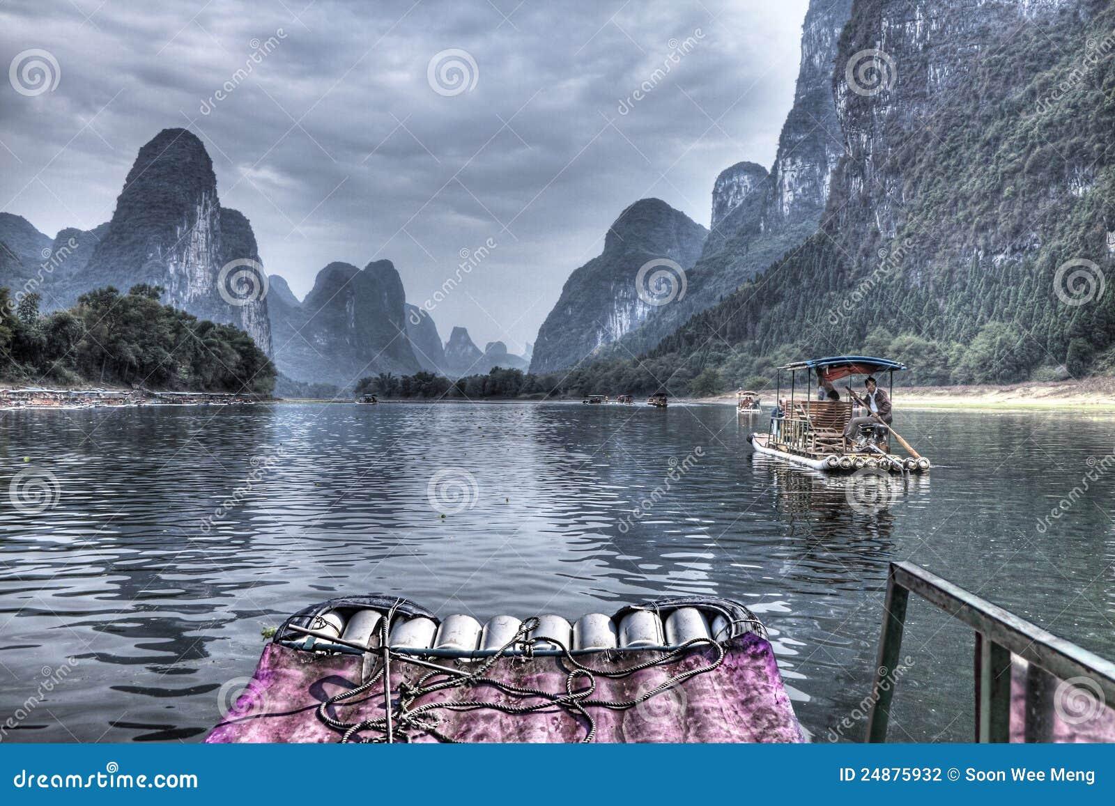 Travesía del río de China Guilin Li