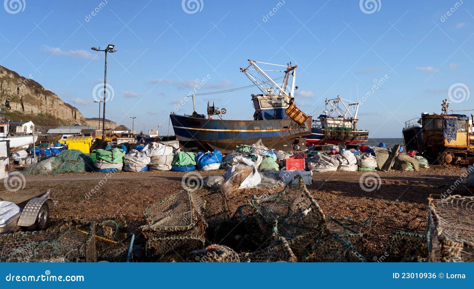 Trawler för industri för hastings för fartygengland fiske