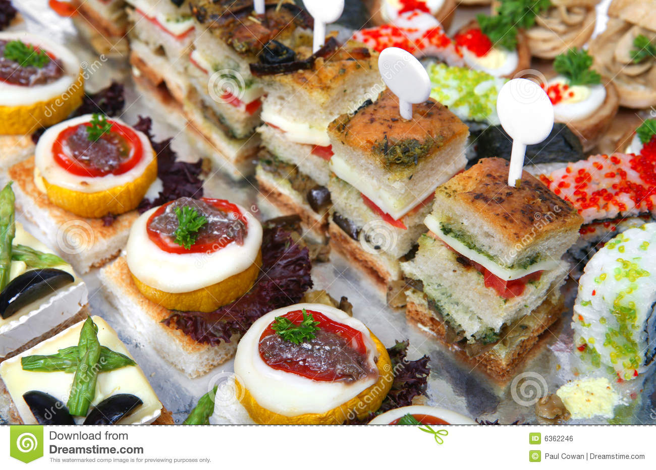 Tray of assorted canapes royalty free stock image image for Canape sandwiches