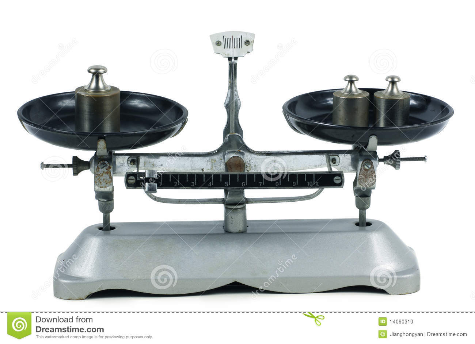 Tray Balance & Weight Stock Photo - Image: 14090310
