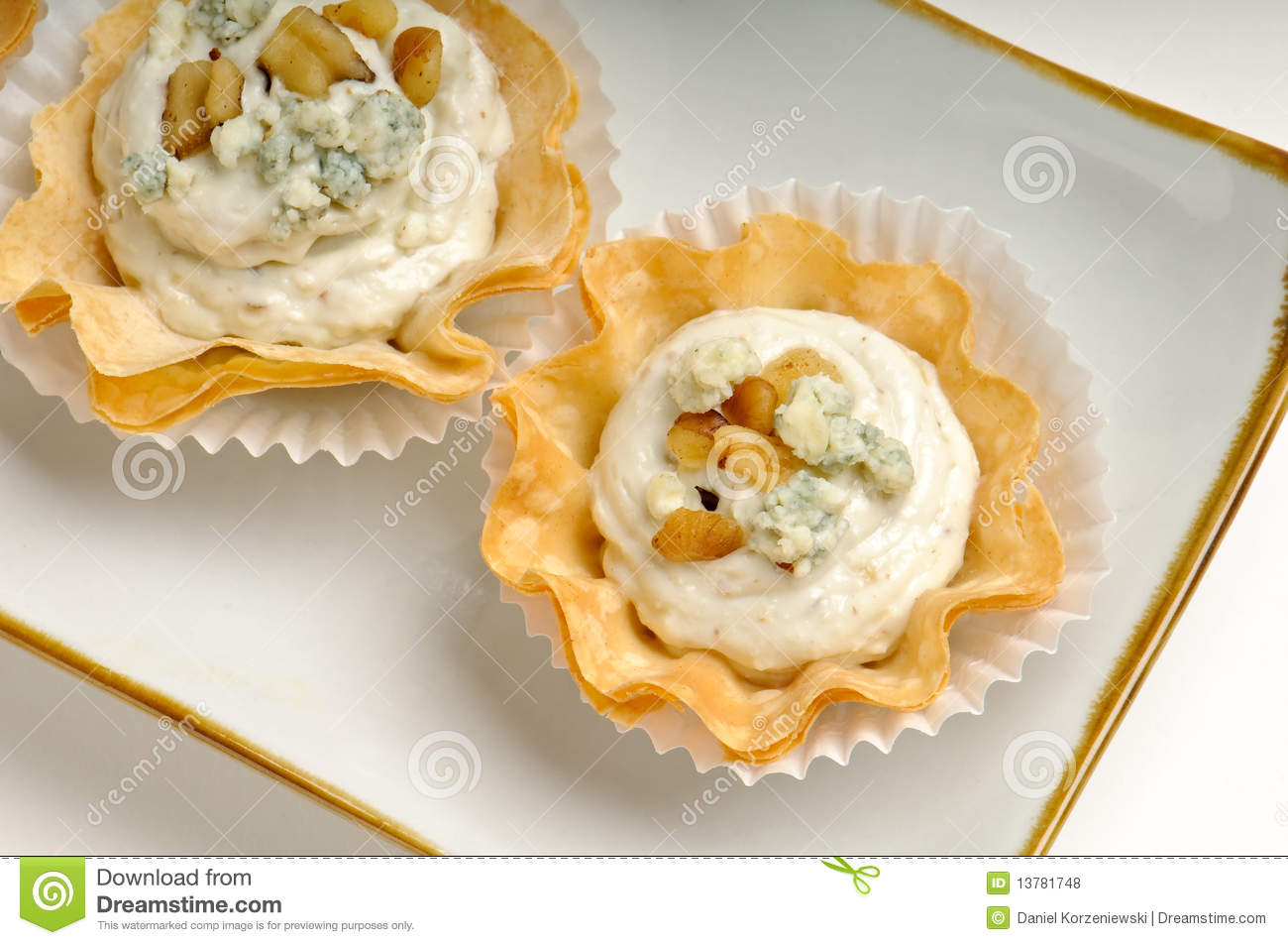 Tray of blue cheese and walnut royalty free stock photos for What does canape mean in french