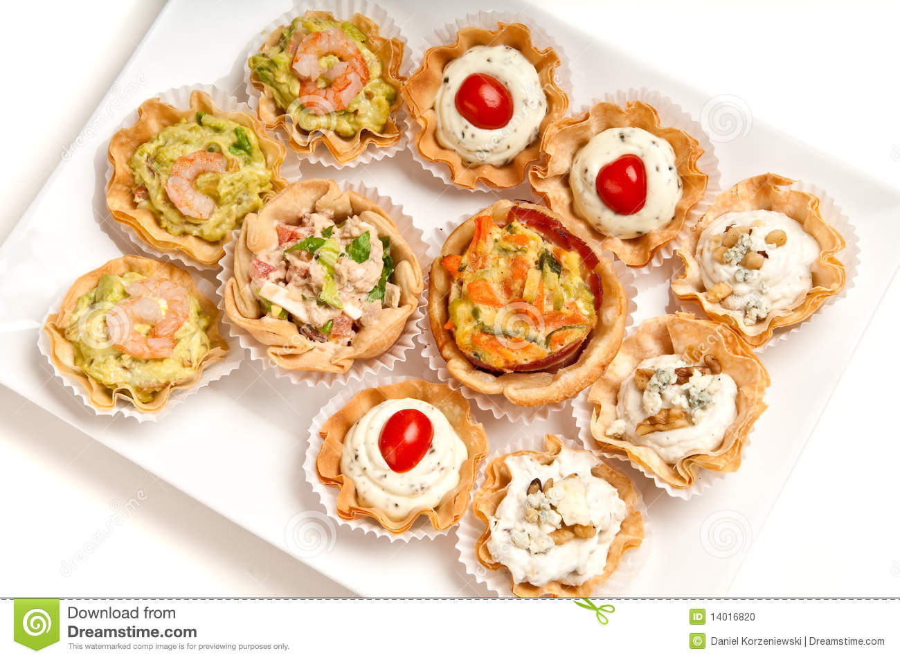 Tray of canapes stock photo image 14016820 for What does canape mean in french