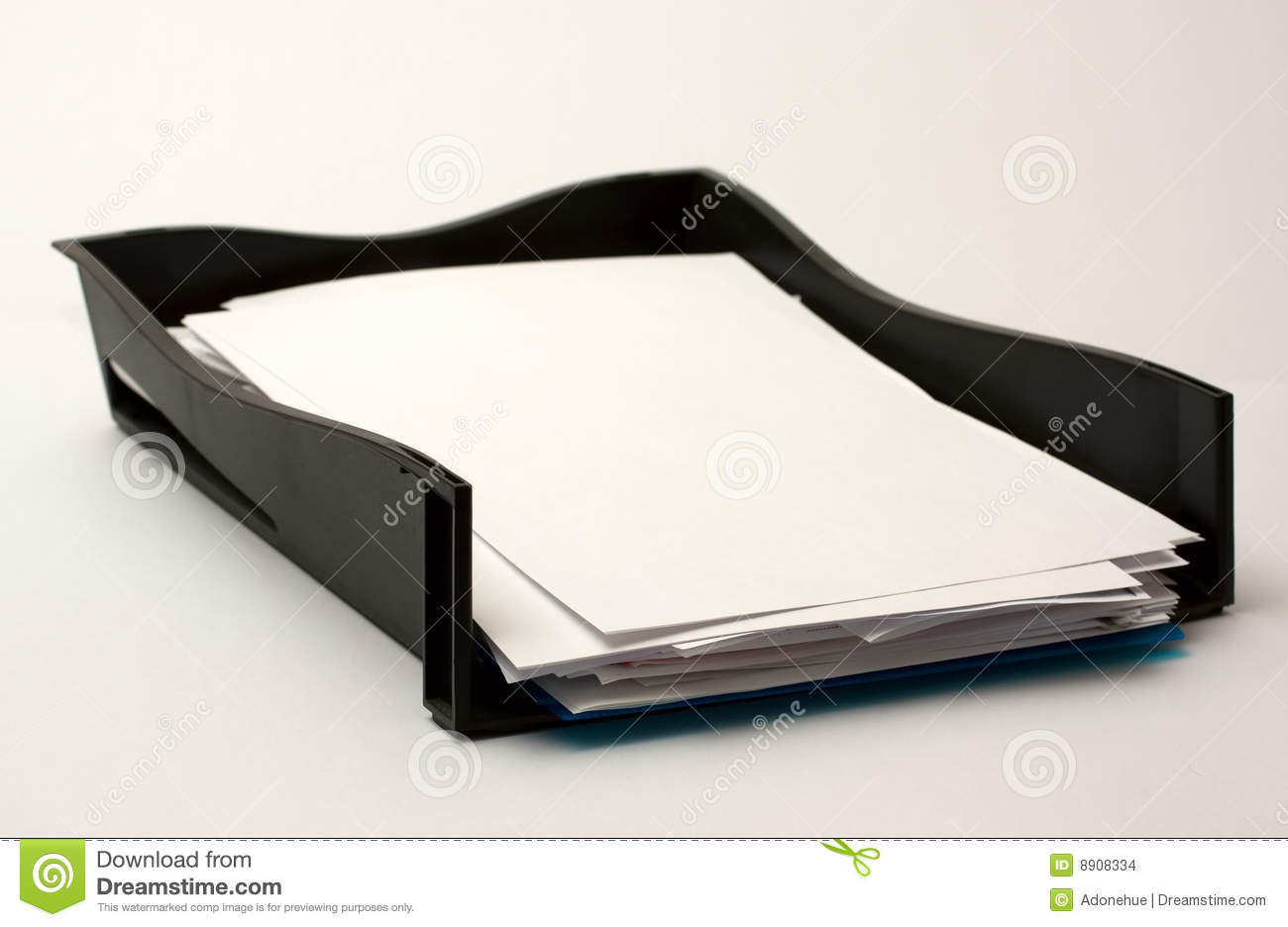 In Tray With Paper Stock Images Image 8908334