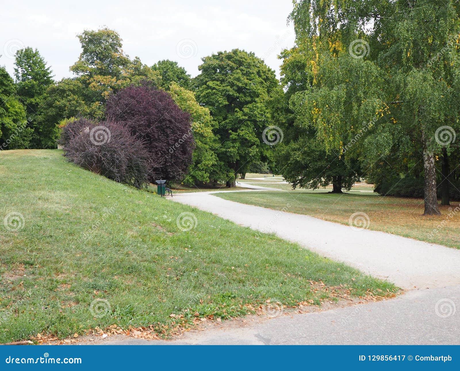 Trayectoria en un parque, lugar vacío