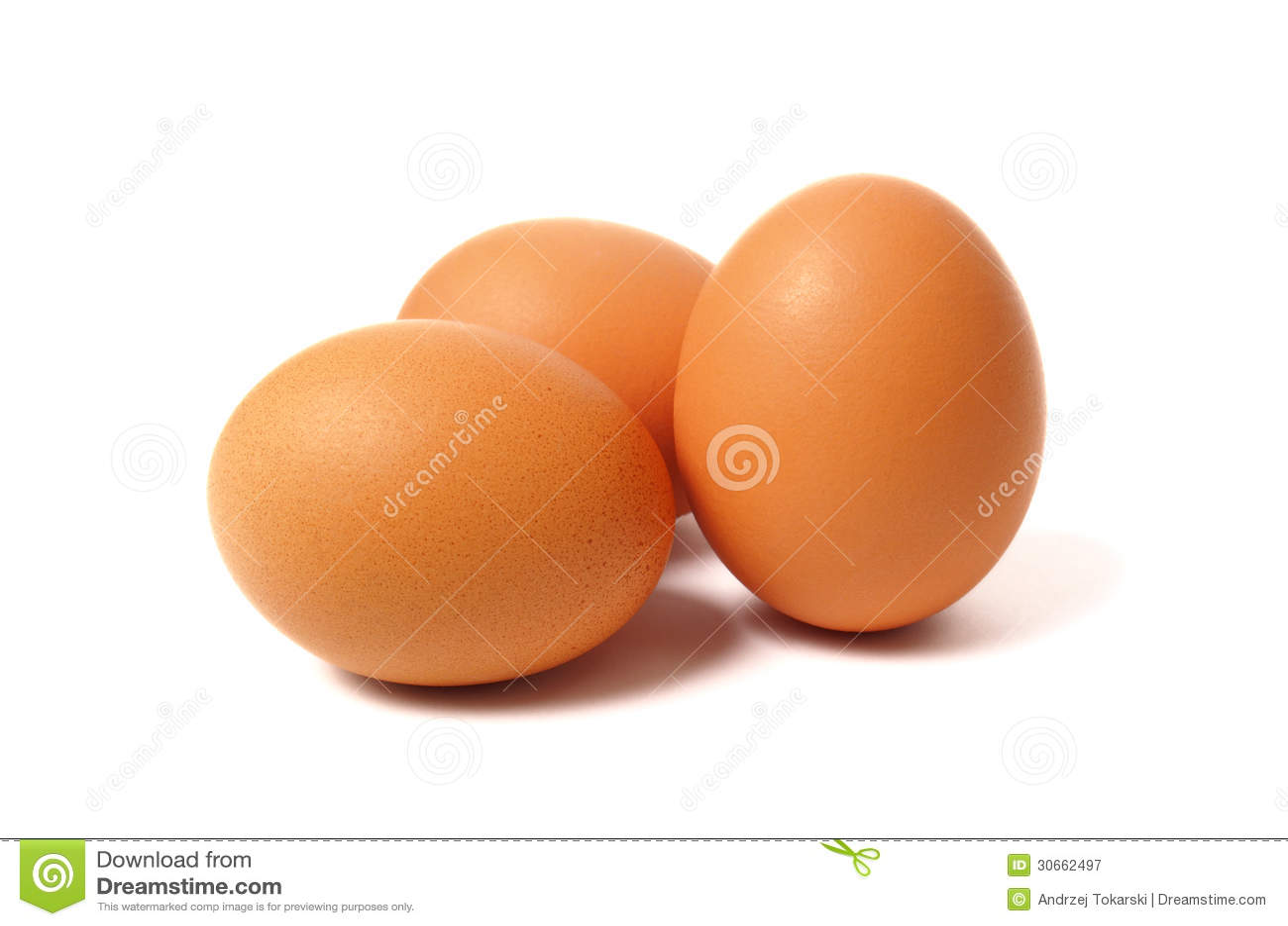 Tre ägg på vit