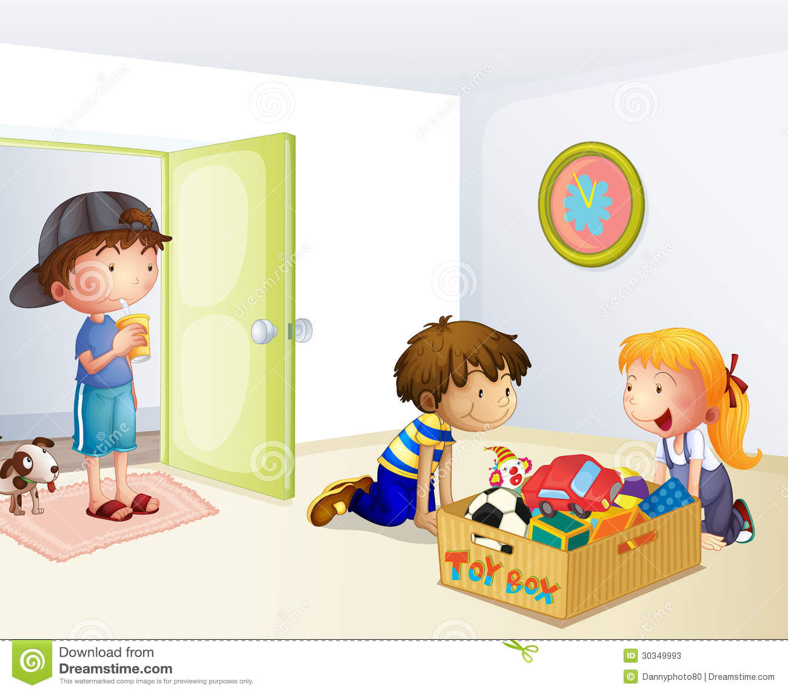 kids cleaning classroom clip art