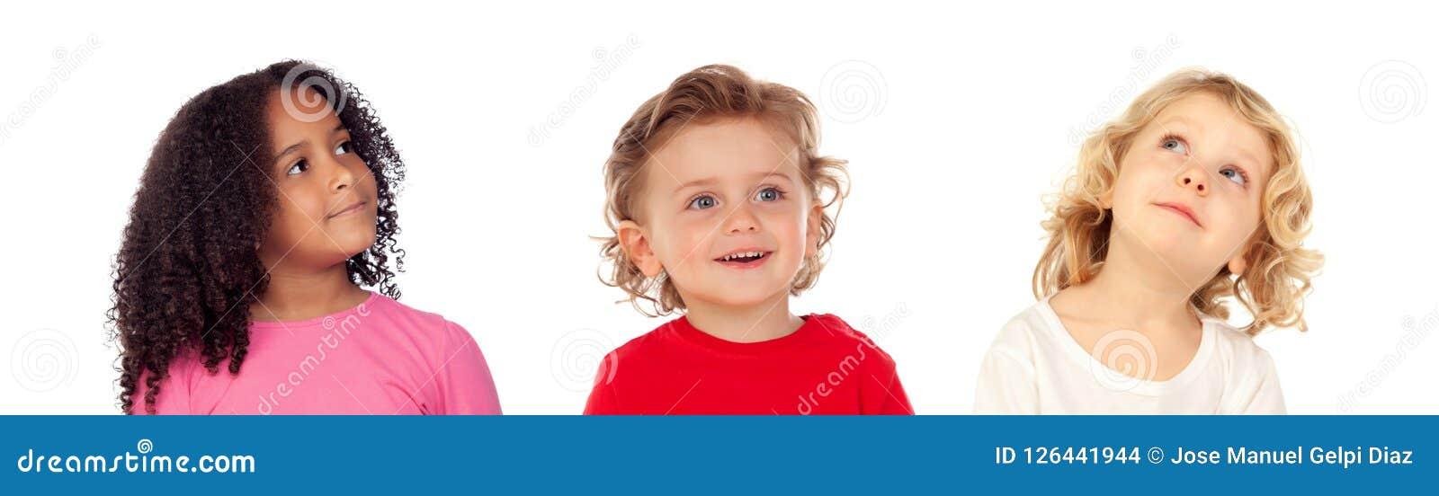 Tre bambini differenti