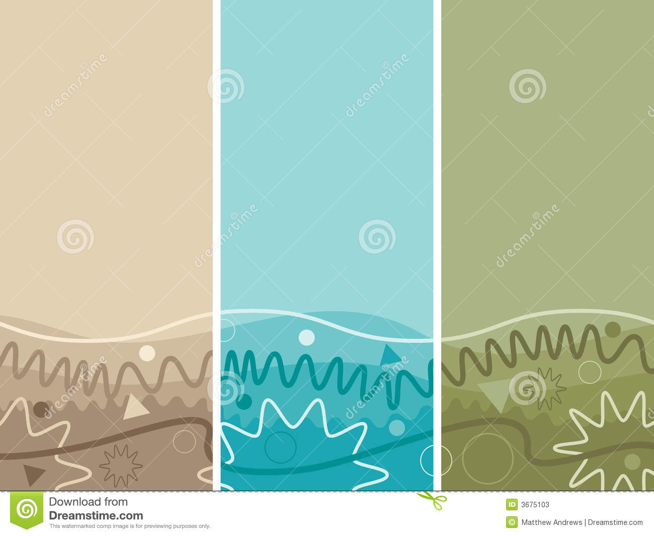 Download Tre bandiere dell'onda illustrazione vettoriale. Illustrazione di colore - 3675103