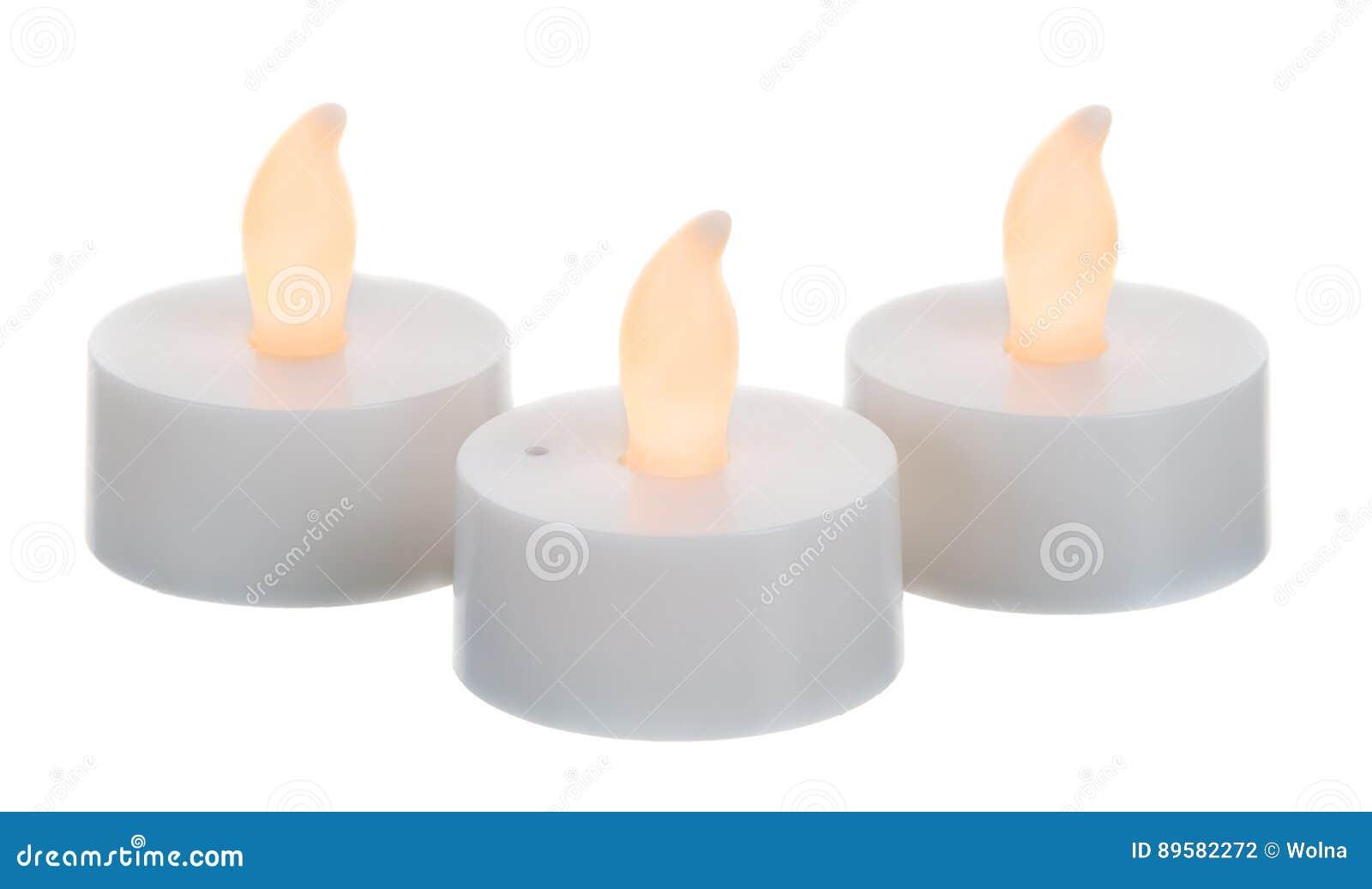 Tre candele artificiali di ustioni