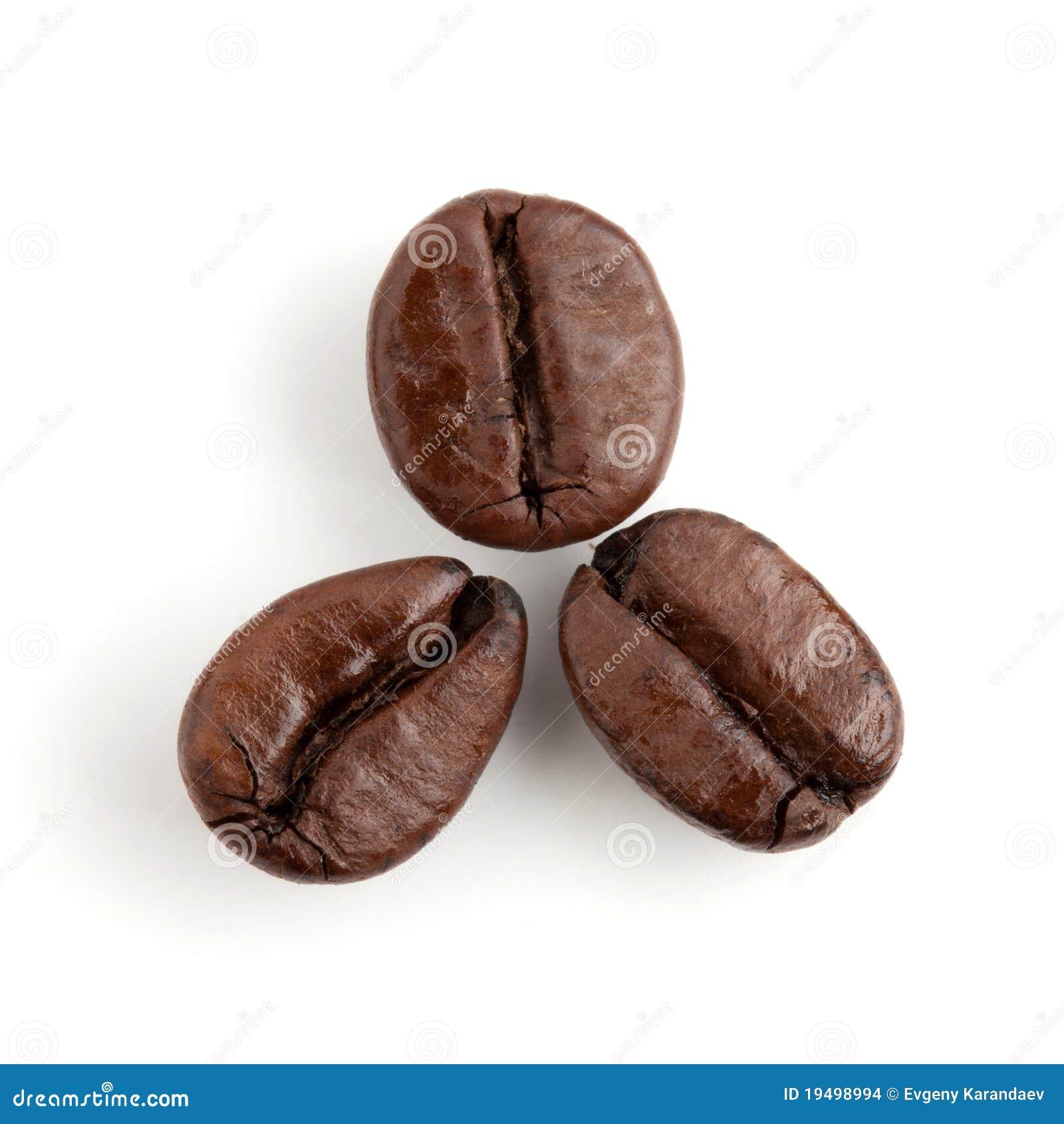 Tre chicchi di caffè