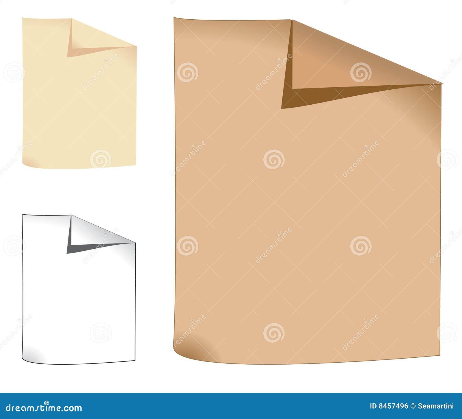 Tre fogli di carta