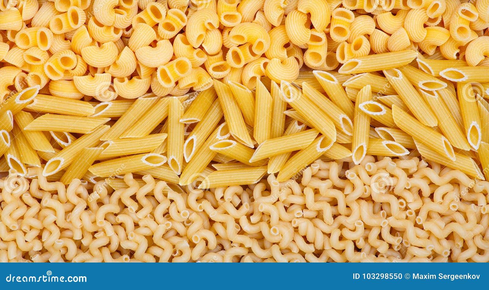 Tre generi differenti di pasta
