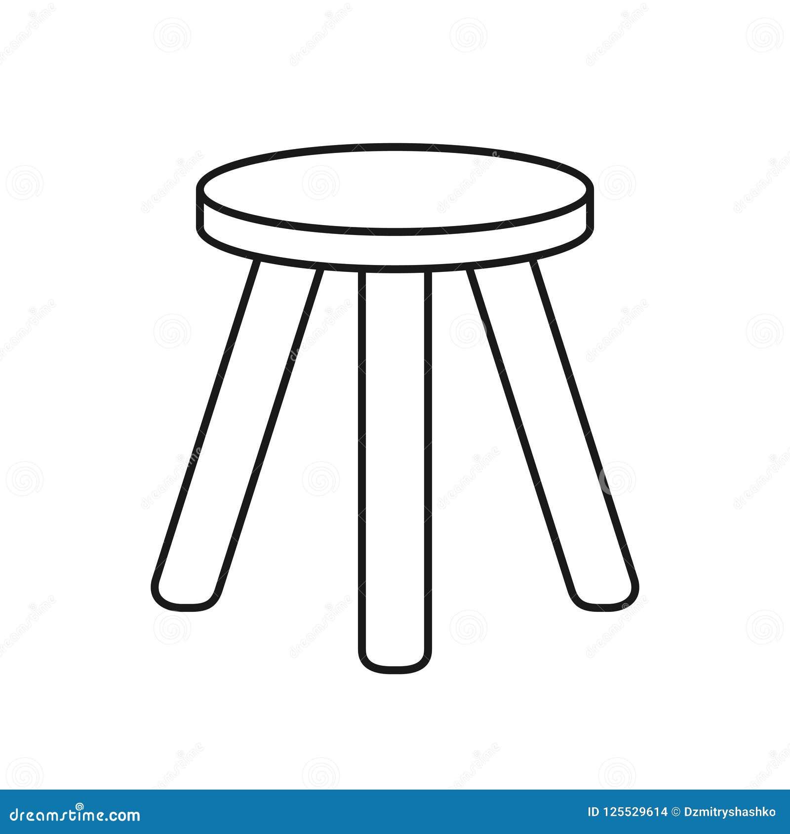 Tre lagd benen på ryggen stol