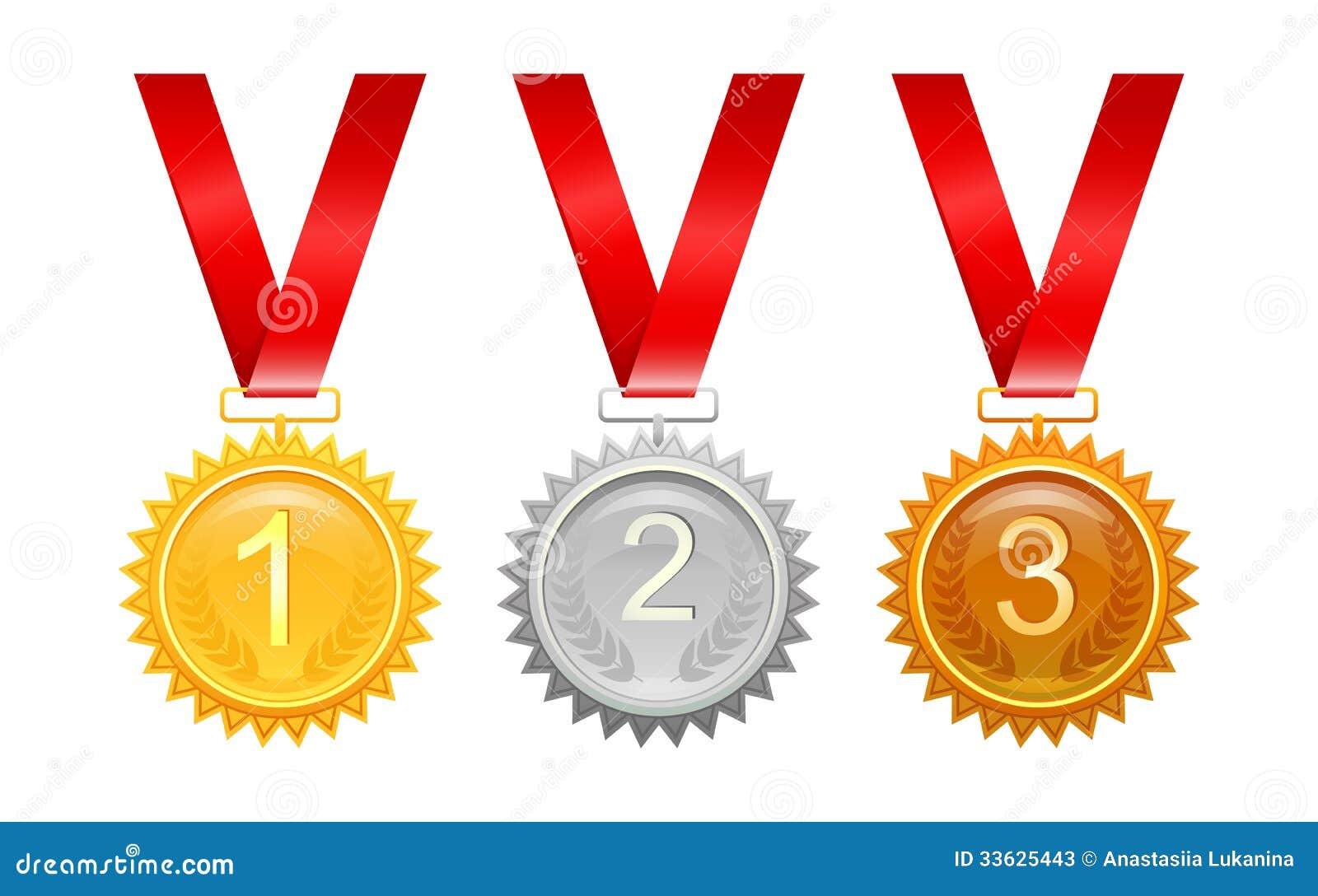 Tre medaljer för utmärkelser