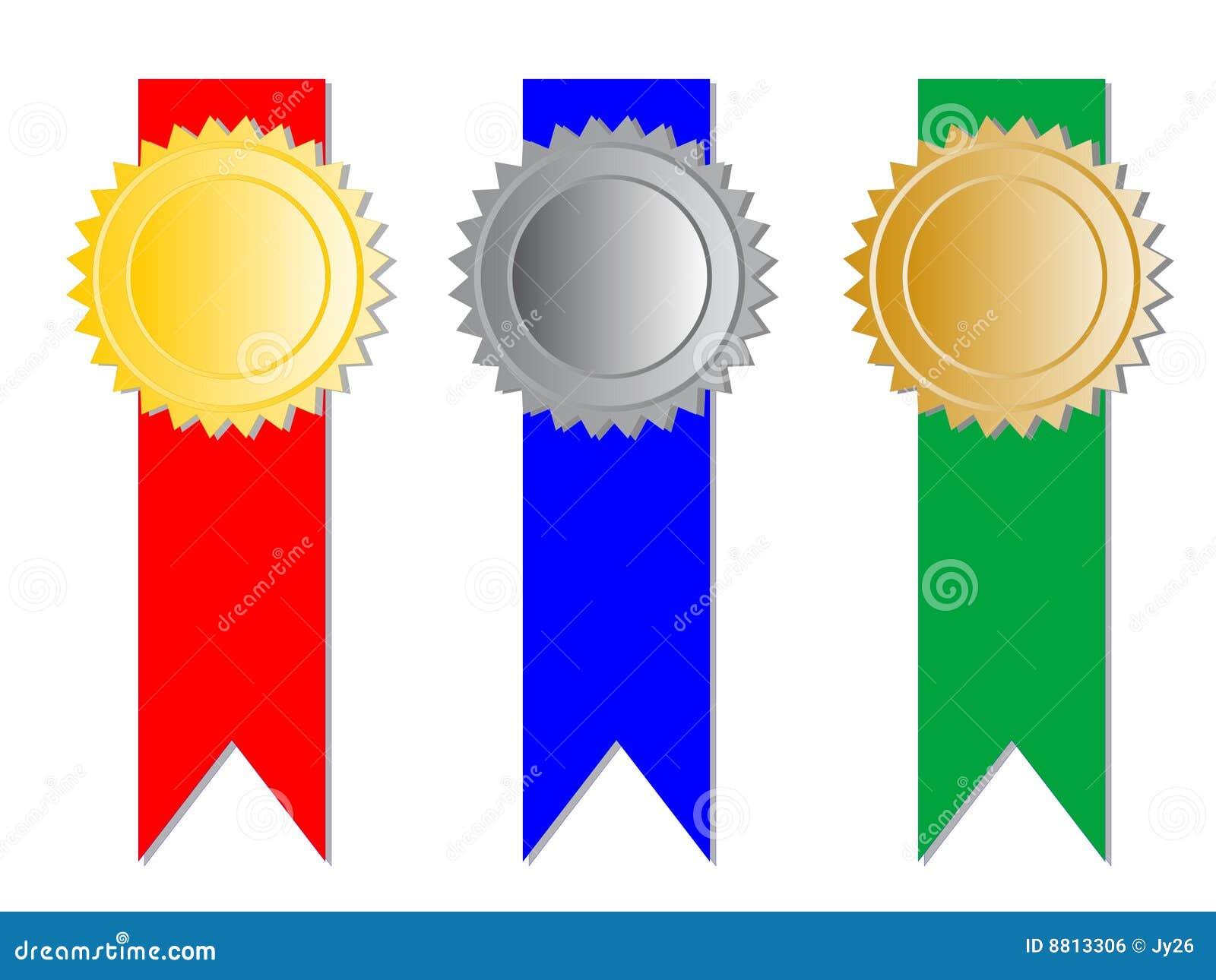 Tre medaljer med band