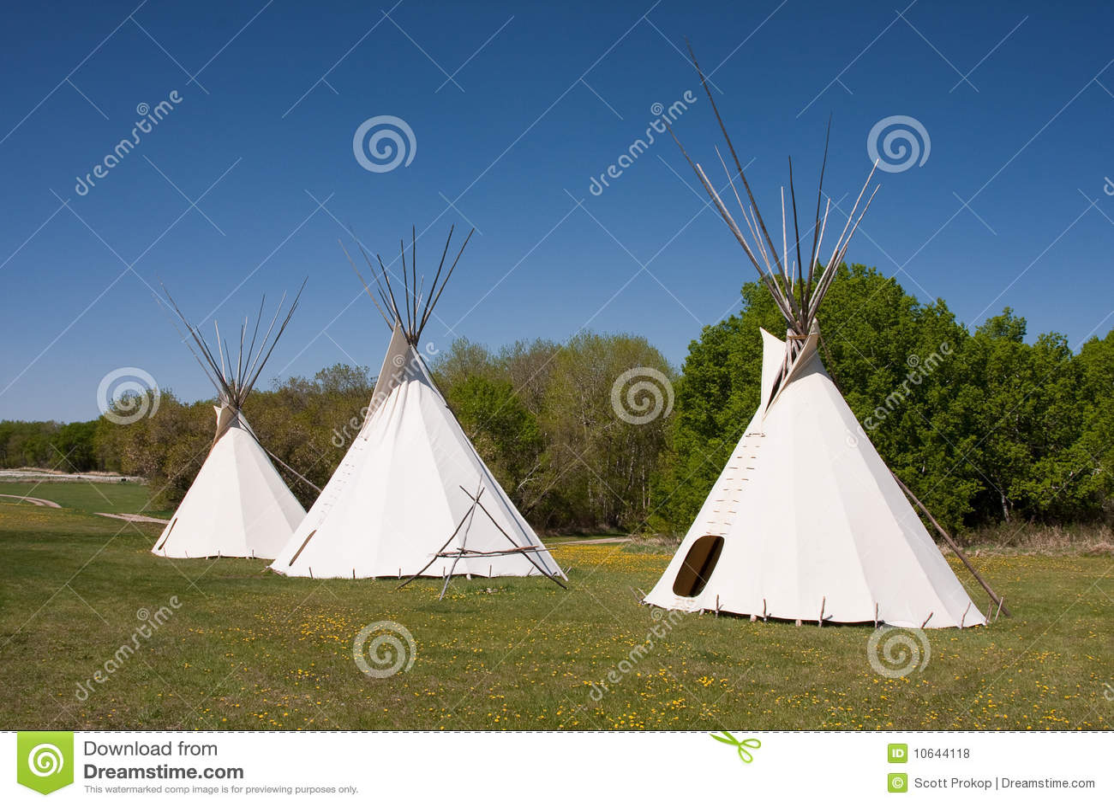 Tre Teepees indiani