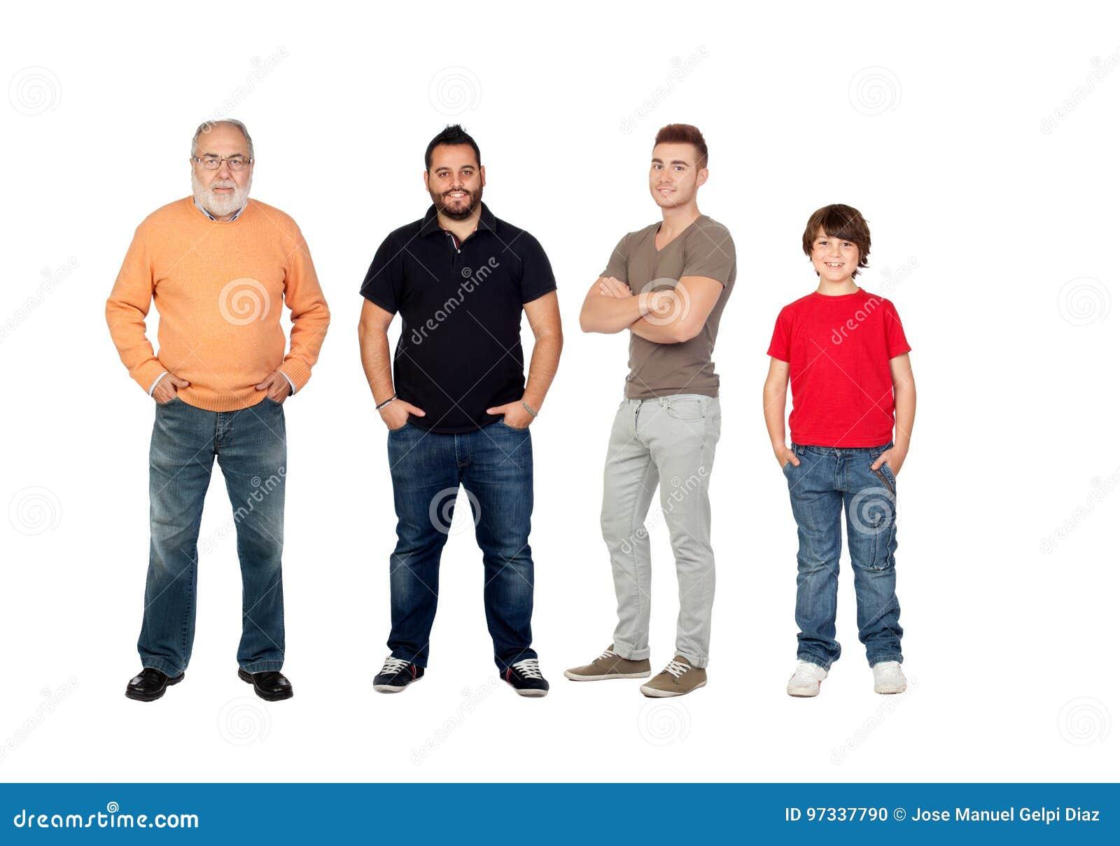 Tre utvecklingar av män
