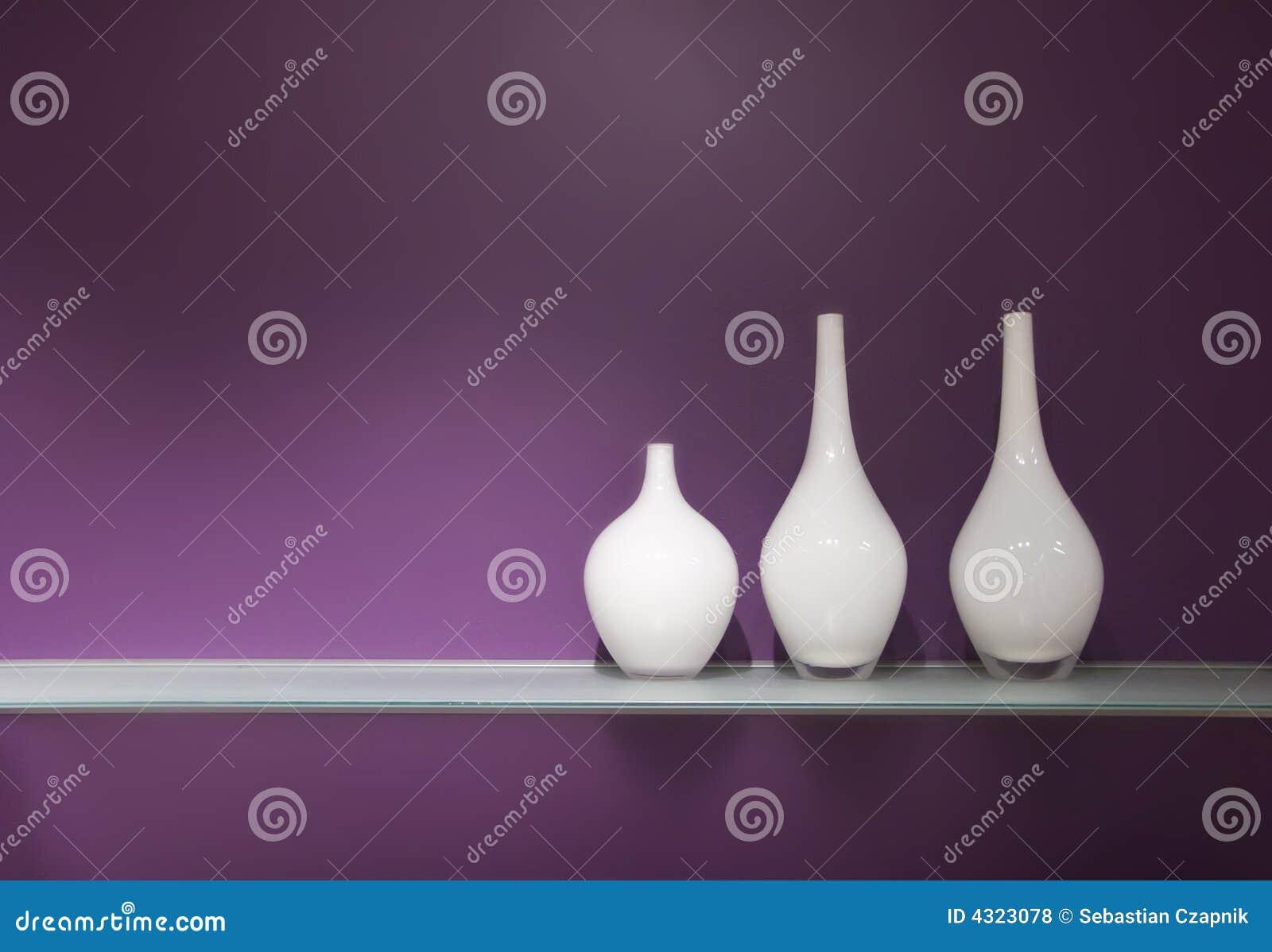 Tre vasi di vetro fotografie stock libere da diritti for Vasi ermetici vetro