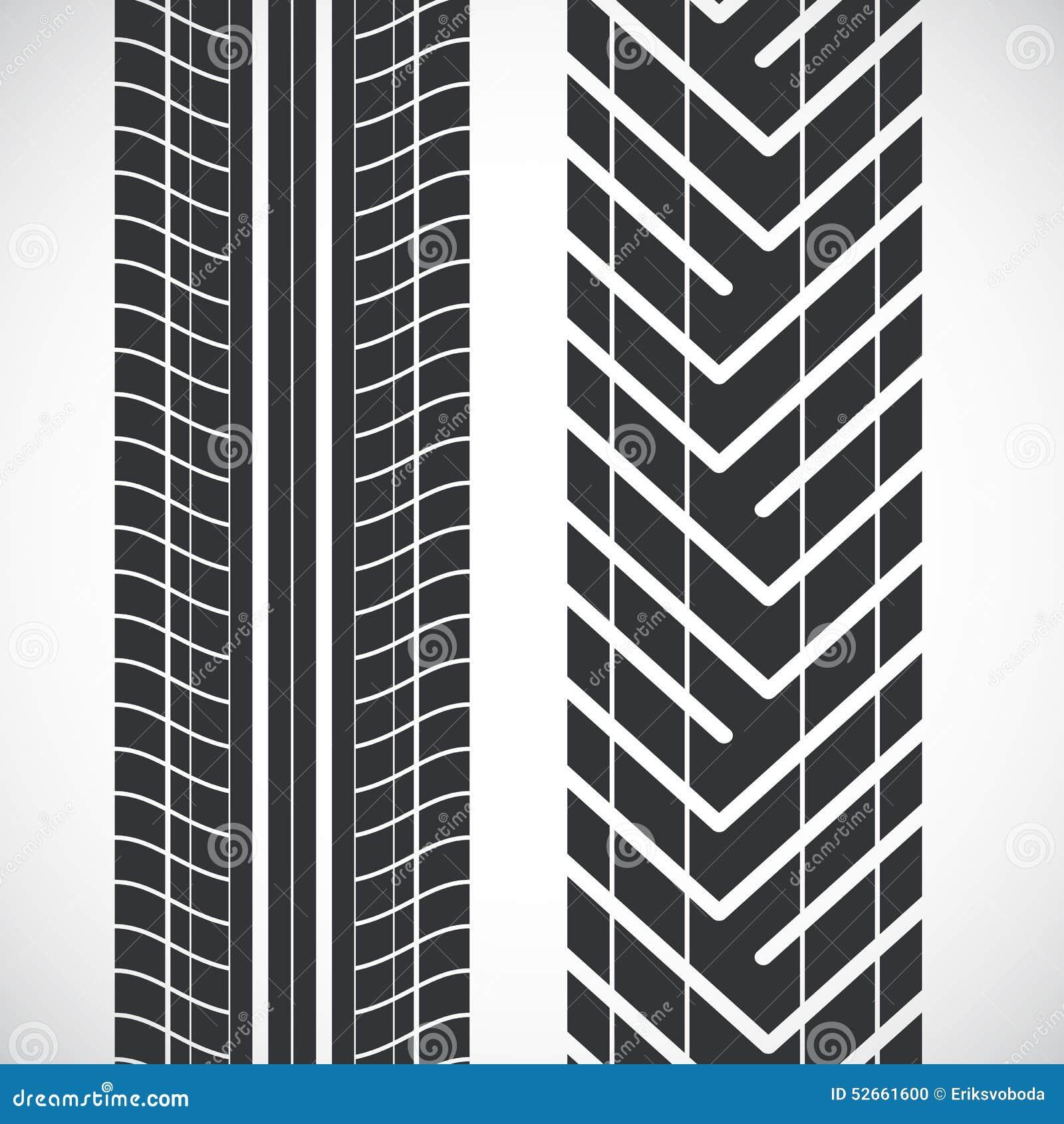 Tread pattern tyre stock vector. Image of design, symbol - 52661600